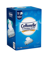 Cottonelle Superior Clean Flushable Wipes 1 Case /10 Packs /560 Total Wi... - $19.99