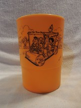"Flintstones Plastic Bedrock City Custer SD Drink Cup 4 3/4"" Tall Flintmo... - $6.95"