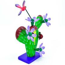 Handmade Alebrijes Oaxacan Painted Wood Folk Art Flowering Prickly Pear Cactus image 6