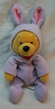 "Disney Winnie The Pooh Bear In Purple Bunny Costume 8"" Bean Bag Stuffed Animal - $14.85"