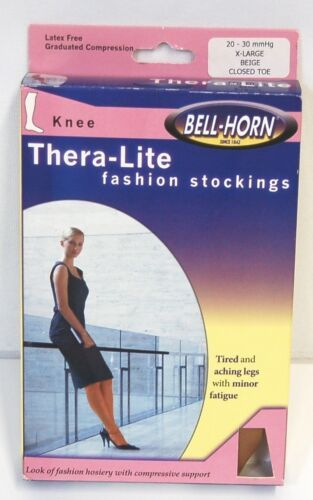 Bell Horn 11932 TheraLite Knee High Stockings Graduated Compression Beige XLarge