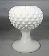 "Vintage Fenton Ivy Ball White Milk Glass Dew & Hobnail 4.75"" Tall No Damage - $6.44"
