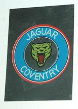 1976 topps cars 1977 rare jaguar coventry desconchará sticker card vg - $7.38