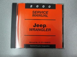 2000 JEEP WRANGLER Service INFORMATION Shop Repair Manual CD OEM BRAND NEW - $197.99