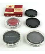 Vintage Lot of 6 Lens Filters 55mm Polarizer Red - $28.02