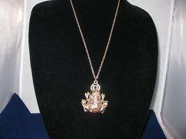 NEW Betsey Johnson Rhinestone Frog Pendant on Long C... - $24.50