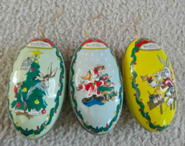 Lot 3: Looney Tunes Bugs Bunny Coyote Daffy Duck Tin Ornament Russell St... - $4.94