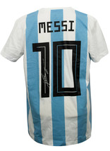Lionel Messi Signed Adidas Argentina Home Soccer XL Jersey Messi COA - ₹45,208.89 INR