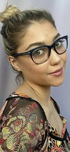 New Tom Ford TF5310092 50mm Rx Blue Brown Women's Eyeglasses Frame Italy - $129.99