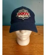 VTG Nike Super Bowl XXXIV 2000 NFL Atlanta Georgia Adjustable Hat Cap Blue - $16.78