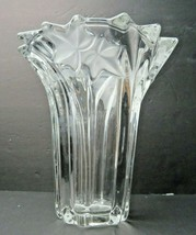 Vintage Art Nouveau Floral french Deco crystal vase - $50.00