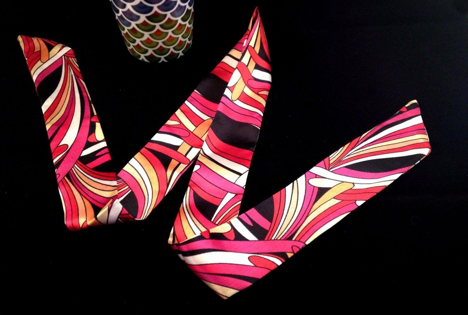 St. Germain Twilly Scarf Pink Abstract Swirl Purse Handbag Luxury