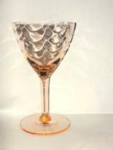 Pink 4 Cordial Glasses West Virginia Specialty Glass Loop Optic - $31.99