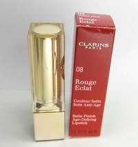 CLARINS Rouge Eclat 08 Coral Pink Age Defying Lipstick (small nick) - $21.60