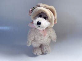 "Boyds Bear Collection Alovetta Pink Rose Hat 7"" Plush Teddy 1364 Bearwea... - $12.16"
