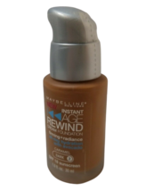 Maybelline Instant Age Rewind Foundation CARAMEL (DARK-2) Silver Pump Cap. - $14.84