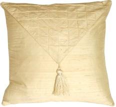 Pillow Decor - Dupioni Silk Cream 17x17 Envelope Throw Pillow - $39.95