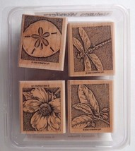 Nature's Wonders Stampin Up Set Dragonfly Sand Dollar Plants 2002 New - $10.69