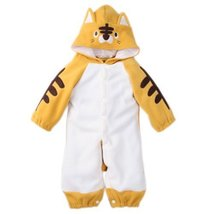 Cute Baby Bodysuit Infant Onesies Toddlers Romper Yellow Tiger For Creeping