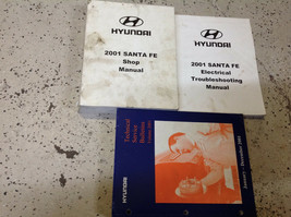 2001 Hyundai Santa Fe Service Reparatur Shop Manuell Set Second Druck W ... - $79.15