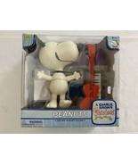 Peanuts Snoopy Dancing Musical Deluxe Piano Guitar Xmas Figure Memory La... - $21.84
