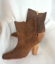 J Shoes Brown Distressed Suede Leather Showdown High Ankle Zip Boot 8.5   - $87.00