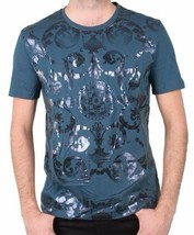 Versace Collection Tonal Metallic Foil Print Men's Tee NWT