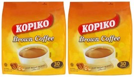 2 Pack - KOPIKO BROWN COFFEE JUST THE RIGHT BLEND COFFEE MIX 30-SACHETS - $35.59