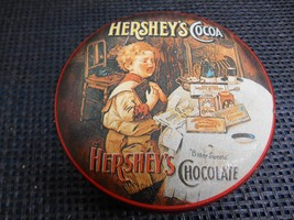 Old Vtg BristolWare HERSHEYS Chocolate Cocoa Metal Tin CAN Container Adv... - $19.79