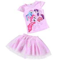Summer baby girls t-shirt+skirt tracksuit girls clothing - $12.52+