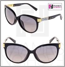 Jimmy Choo Erin Black Gold Crystal Rock Asian Fit Cat Eye Sunglasses ERIN/F/S - $242.55