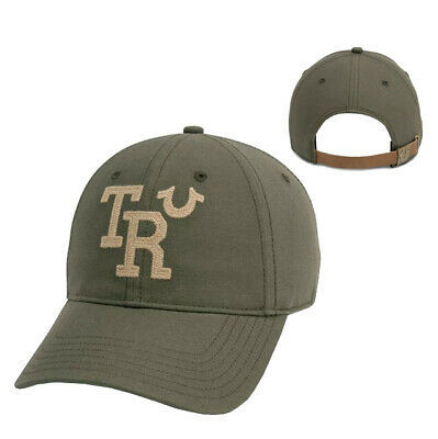 True Religion Men's TR Embroidered Vintage Baseball Cap Sports Strapback Hat