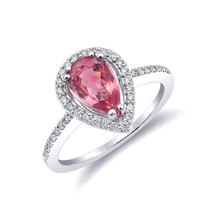 Natural Neon Tanzanian Spinel 1.12 carats set in 14K White Gold Ring - £1,193.38 GBP