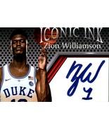 5 Zion Williamson Iconic Ink Fascimile Autograph Mint Duke New Orleans P... - $5.94