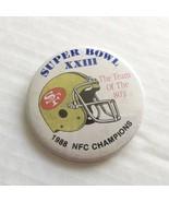 Vintage Super Bowl Pin 1988 XXIII San Francisco 49ers NFC Champions Pinback - $12.86