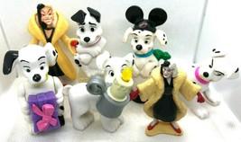 7 - 101 Dalmatians Figures 5 Dogs 2 Cruella de Vil - $5.93