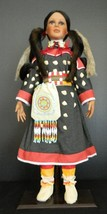 """Timeless Collection Lady Fox Indian Doll Ltd Ed Porcelain w Stand NIB 26"""" - $94.99"""