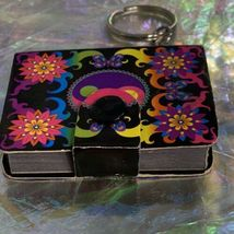 V Nice Lisa Frank Dream Writers Mini Notebook Keychain Yin Yang ☯️ 90s image 3