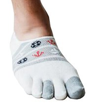 Black Temptation Mens First Step Low Cut Five Toes Socks Five Fingers Fl... - $13.97