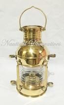 "Brass Anchor Oil Lamp ~ Nautical Maritime Ship Lantern 10"" Wall Hanging ... - £47.97 GBP"