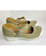 Dansko Womens Sz 10.5 11 41 Mary Jane Sneaker shoes tan white - $36.45
