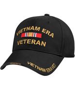 Black Vietnam ERA Veteran Deluxe Low Profile Baseball Hat Cap - $11.99