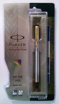 Parker Vector Steel  Roller Ball  With Gold Clip - $19.80