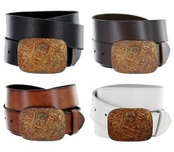 "The Old Copper Skull - Antique Copper Plated Jean Casual Belt, 1-1/2"" Wide - $26.95"