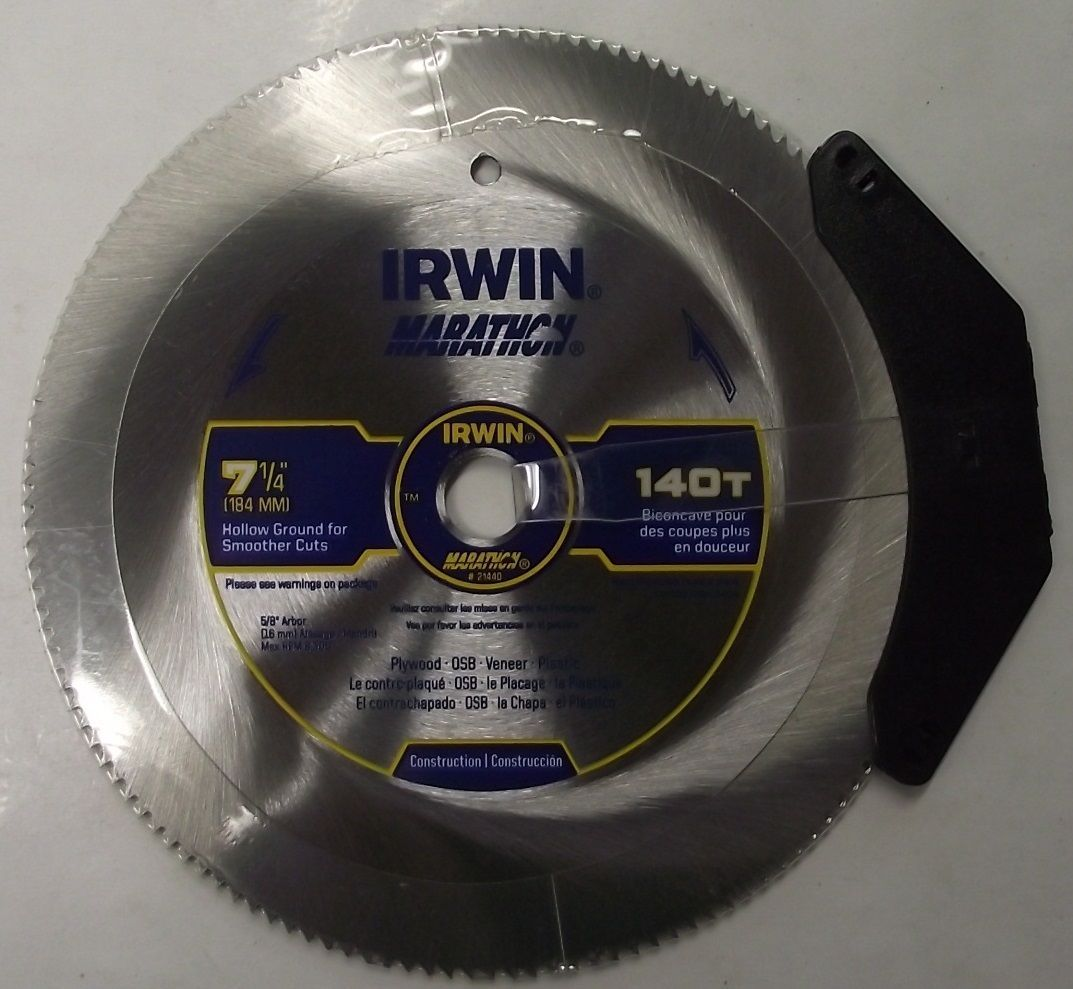 "Primary image for Irwin 21440 7-1/4"" x 140 Tooth Hollow Ground Saw Blade"