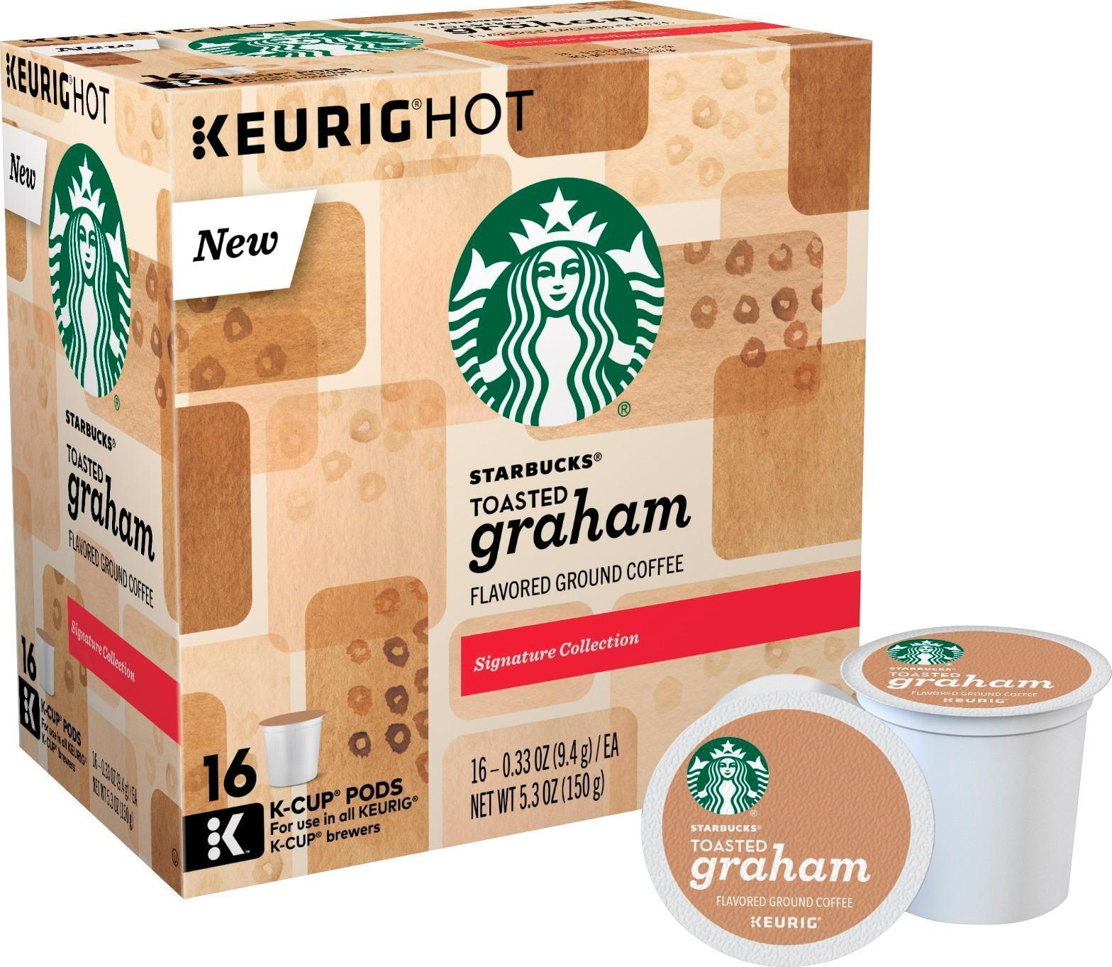 Starbucks Toasted Graham Coffee 16 to 64 Count Keurig K cups Pick Any Quantity