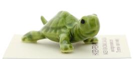 Hagen-Renaker Miniature Ceramic Turtle Figurine Tiny Green Mama Turtle image 2
