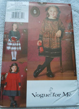 Vogue For Children's / Girls Dress Size 2-5 #9958 Uncut - $7.99