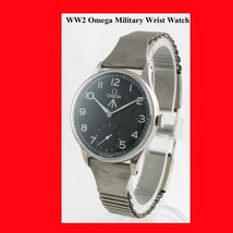 WW2 Mint Steel Omega Non-Magnetic Military Wrist Watch 1945 - $1,517.80