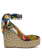 Christian Louboutin Blue Barbaria Zeppa 120MM Wedge New - $819.00